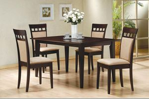 5 Piece Dining Set in Rich Cappuccino Finish for Sale in Naples, FL