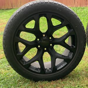 "22"" Snowflake Rim And Tires for Sale in Kannapolis, NC"