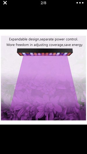 30W Led Grow Light ZXMEAN Full Spectrum Grow Reflector Growing Light Panel with Adjustable Hanger for Indoor Plants Hydroponic Greenhouse Veg and Flo for Sale in La Puente, CA