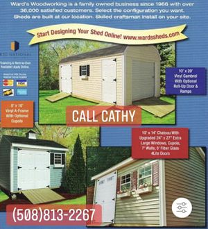 New Shed 6' x 8' to 12' x 24' Pine T1-11 Vinyl for Sale in Lynnfield, MA