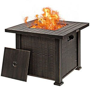 "30"" Gas Fire Table With Lid and Lava Rocks Outdoor Use for Sale in Phoenix, AZ"