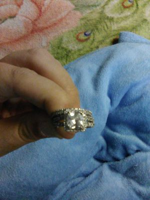 925 Sterling silver engagement and wedding band for Sale in Hartford, CT