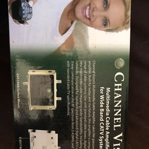 Channel Vision Multimedia Cable Amplifier CVT-15WB For Wide Band CATV System for Sale in Boynton Beach, FL
