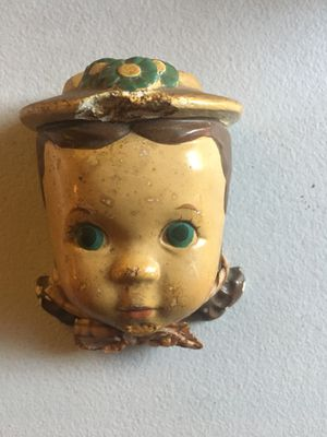 """Antique Doll Face Wall Decor 3.75"""" for Sale in Huntington Park, CA"""