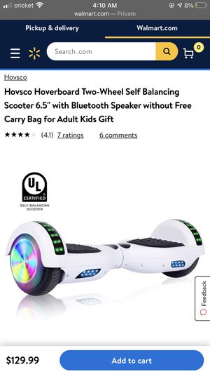 White hoverboard with built in Bluetooth for Sale in Glendale, AZ