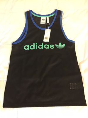 Adidas Originals BR8 Mesh Retro Tank Top Men's Black Size Small New NWT for Sale in San Diego, CA