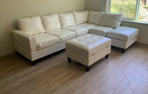 Sectional Couch and Storage Ottoman for Sale in Dublin, CA