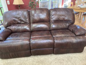 Flexsteel power recliner leather couch for Sale in West Linn, OR