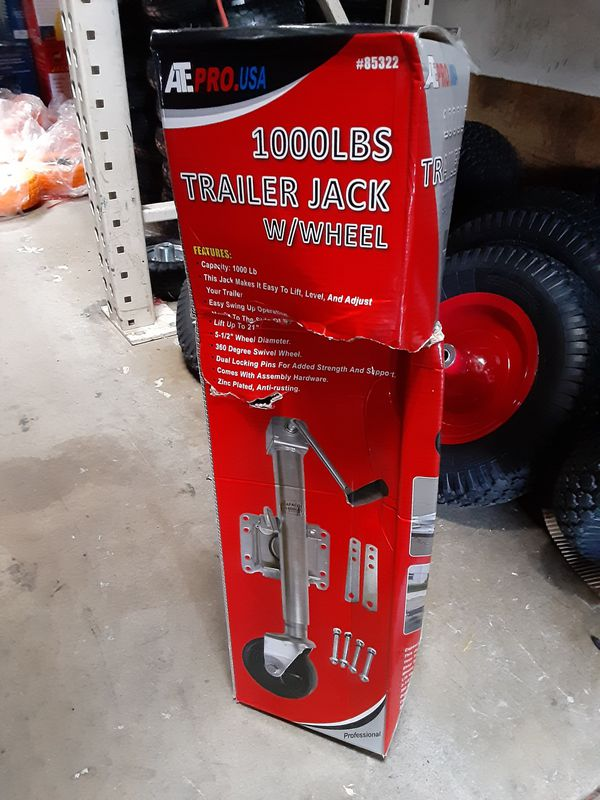 1000 lbs. Trailer Jack with wheel/ llanta para traila