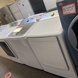New Scratch&dent Samsung Top Load Washer And Dryer Electric Set 6 Months Warranty for Sale in Laurel, MD