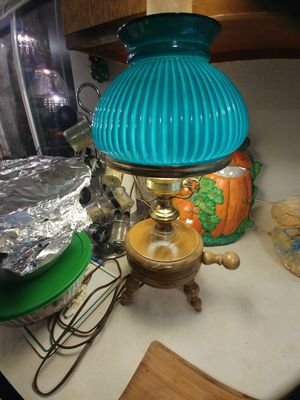 Vintage green glass lamp for Sale in Beaverton, OR