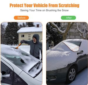Car Windshield Snow Ice Cover for Winter, Sunshade Cover for Summer, Double Side Designed, Waterproof for Ice, Snow, Frost, UV Protection, Large Size for Sale in EDISON, NJ