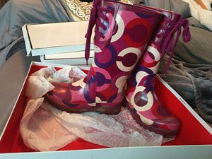 Coach rain boots for Sale in Odenton, MD