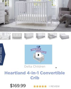 Crib with changing table PLUS MATTRESS for Sale in The Bronx, NY
