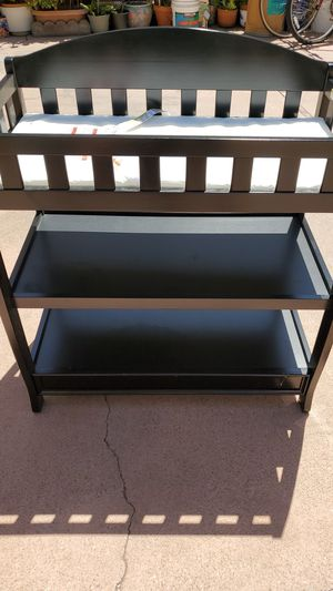 Espresso changing table. Good condition, used mainly for storage. for Sale in Redondo Beach, CA