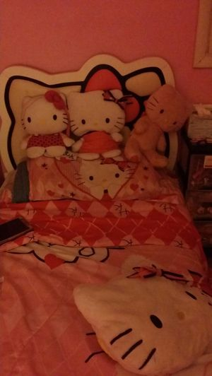 Hello kitty blanket with 4 accessory for Sale in Toms River, NJ