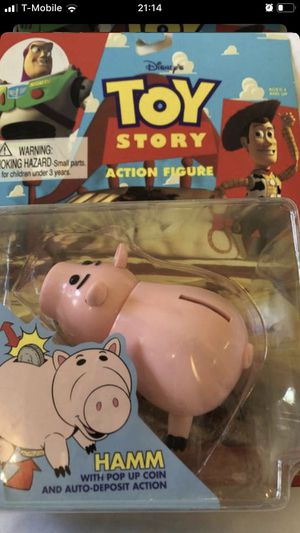 Original 1995 Toy Story Hamm Action Figure, Disney Toys for Sale in Romoland, CA