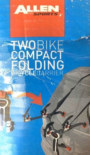 New Two bike compact folding bicycle carrier $25 for pick up only for Sale in Palo Alto, CA