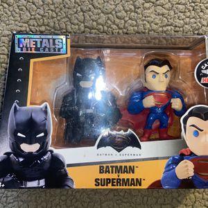 Batman Vs Superman Action Mini Figures Metal die Cast DC Comics for Sale in San Antonio, TX