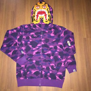Bape purple camo tiger hoodie size L and XL for Sale in San Francisco, CA