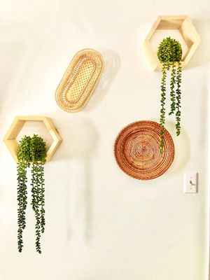 Honeycomb, shelves, home decor, boho, macrame, Succulents's, shelf, storage, wall hanging, decor for Sale in Riverside, CA