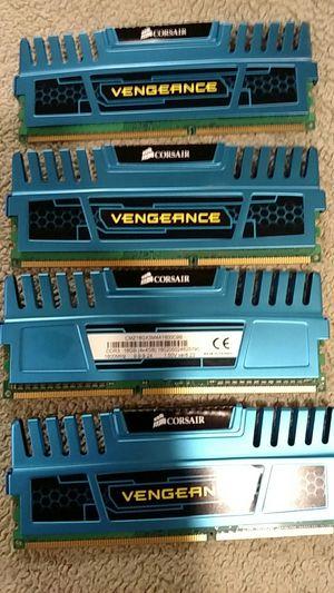 Corsair DDR3 1600 MHz 16 GB x 4 memory for Sale in York, SC
