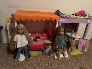 American girl DOLLS Julie and McKenna ! $125 EACH SET for Sale in Arlington, TX