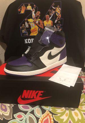 Air Jordan 1 Court Purple size 10.5 for Sale in Norwalk, CA