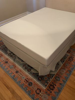 Brand new Queen spa sensations foam mattress including bed frame for Sale in Elmhurst, IL