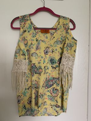Paisley Fringe Yellow Shirt *Medium for Sale in Arvada, CO