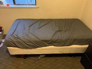 Twin Bed frame, box spring, and mattress for sale!! for Sale in Chico, CA