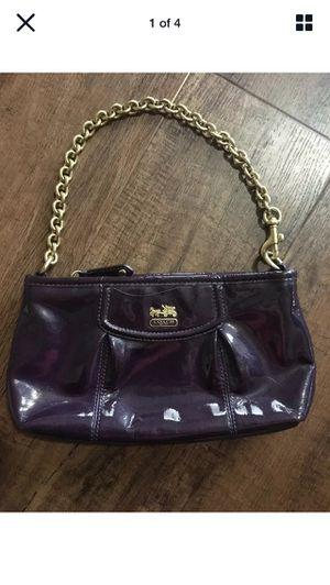 Elegant! Coach Pearl Purple Gold Chain Wristlet for Sale in Spokane, WA