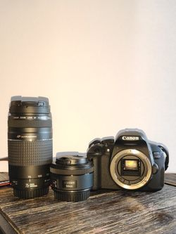 Canon 700D + 75-300mm USM & 50mm f/1.8 STM OBO (and extras) for Sale in Long Beach,  CA