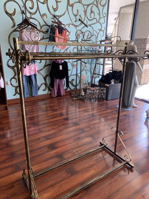 Gold rack retail clothing boutique fixture bronze for Sale in West Bloomfield Township, MI