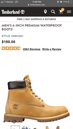 Men's timberlands size 12 for Sale in Warren, OR