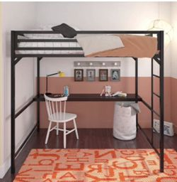 Brand New DHP Miles Metal Twin Loft Bed with Desk, Black for Sale in Pickerington,  OH