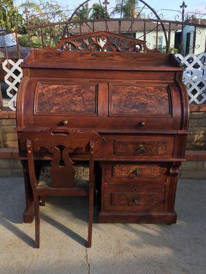 Vintage vintage Antique antique Dresser dresser Desk desk Roll roll Top top Wood wood Wooden wooden Home home Decor decor for Sale in National City, CA