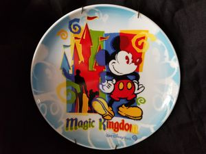 Magic Kingdom Disney World Partners Walt & Mickey Mouse Plate for Sale in Fort Lauderdale, FL