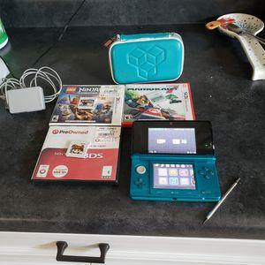 Nintendo 3ds + games & case for Sale in Phoenix, AZ