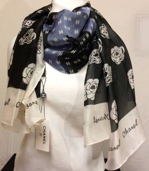 Luxurious Silk Scarf Classic Design Camellia for Sale in Snohomish, WA