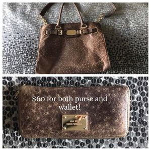 Brown leather MK purse and wallet for Sale in El Paso, TX