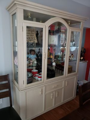 China cabinet light tan. for Sale in Scottsdale, AZ