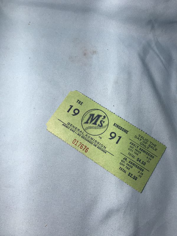 Mariners ticket from 1991
