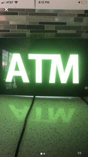 Atm light up sign for Sale in Manteca, CA