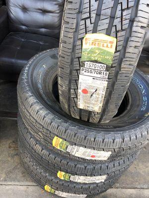 255/70/18 Pirelli Tires (4 for $400) for Sale in Santa Fe Springs, CA
