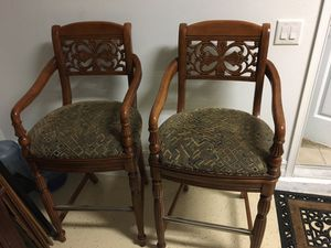 "Countertop wooden ""swivel"" chairs ANTIQUE! for Sale in Tampa, FL"