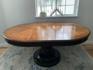Hand-Painted solid wood pedestal table for Sale in Newman Lake, WA