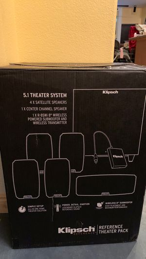 Klipsch reference theater pack 5.1 speaker bundle for Sale in Las Vegas, NV
