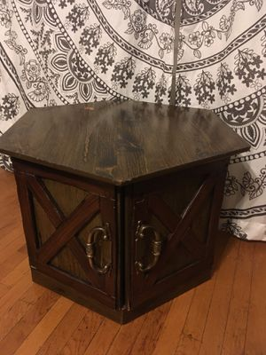 Wood Hexagon End Table/Coffee Table/Media Table for Sale in Portland, OR