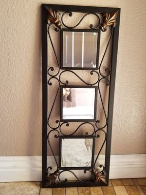 "Metal Wall Mirror Decor 28"" H x 11"" W for Sale in Las Vegas, NV"